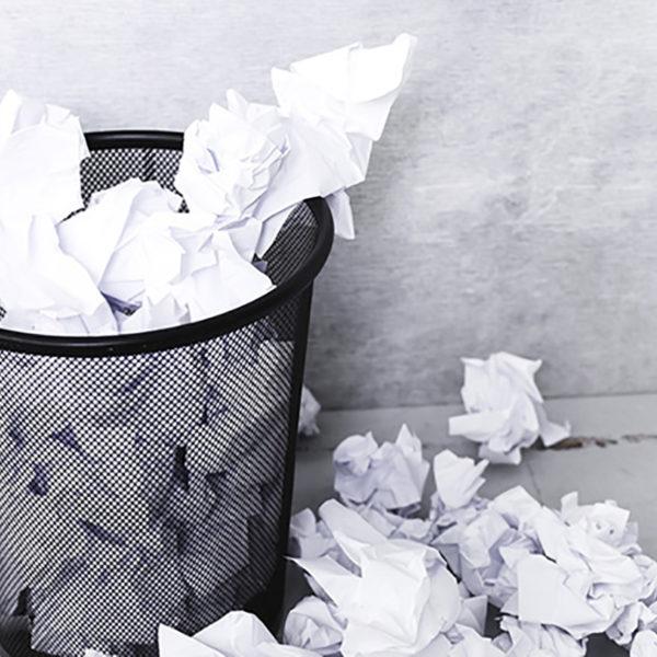 descartar papel