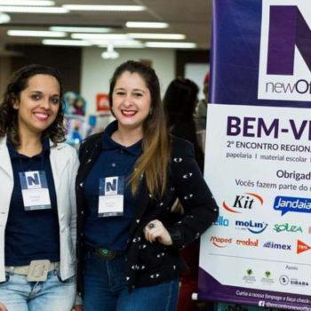 Tiele e Marcela - Idealizadoras do encontro newOffice que revolucionou o mercado de papelaria, material escolar e escritório